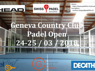 Country Club Geneva Padel Open 24-25/03/2018