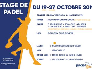 Stage de Padel 19-27 Octobre