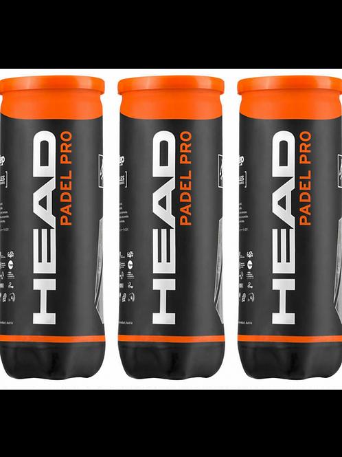 Balles HEAD Padel Pro (WPT) - 3 Boîtes