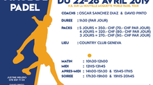 Stage de Padel : 22-26 Avril