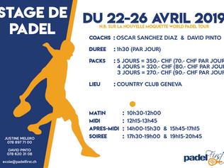 Stage de Padel : 22-26 Avril