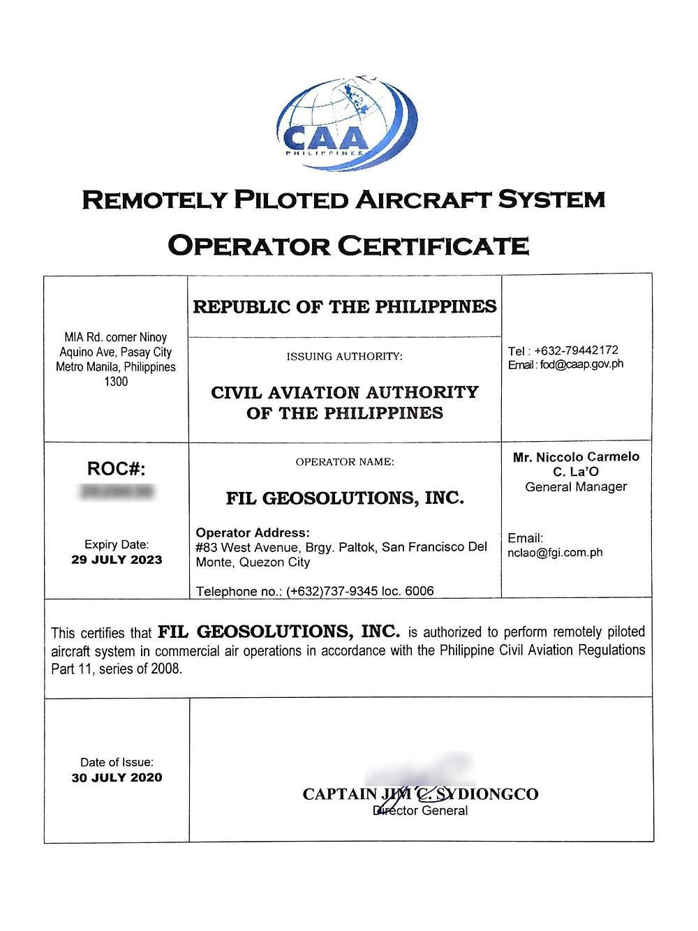 caap-operators-certificate