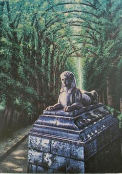 Le Sphinx et l'allée