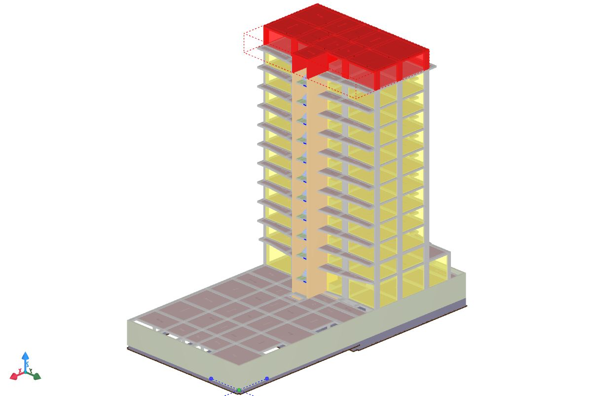 Elevation of a 11 story building