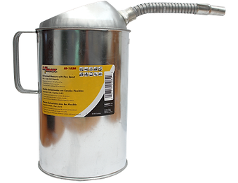 LX-1528 Galvanized Measure Can with Flex Spout