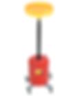 LX-1713 Lumax 5 Gallon Metal Oil Lift Drain Pan with Cross Frame Dolly