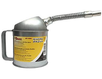 LX-1524 Galvanized Measure Can with Flex Spout