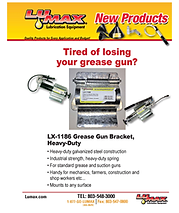 Lumax Grease Gun and Shovel Brackets
