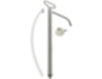 LX-1352 Lift Action Stainless Steel Pail Pump