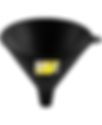 LX-1602 Lumax 16 ounce Plastic funnels