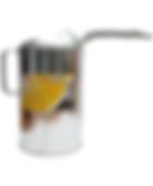 LX-1528 Galvanized Measure Can with Flex Spout