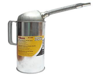 LX-1526 Galvanized Measure Can with Flex Spout