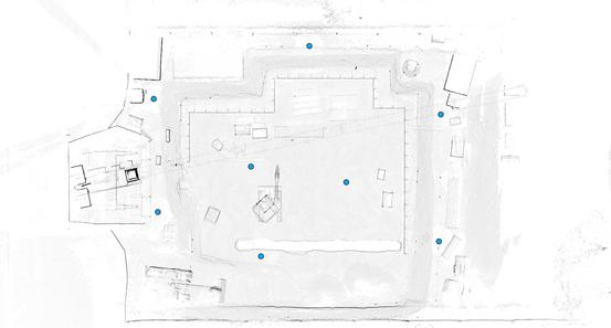 Übersichtskarte Scannerstandpunkte