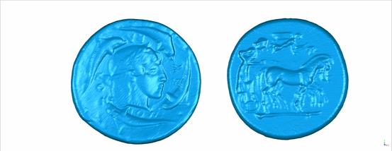 Scan alter Münzen aus Römerzeit