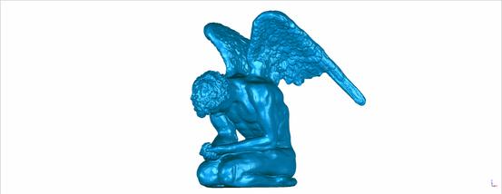 Scan eines Bronzeengels für Museum