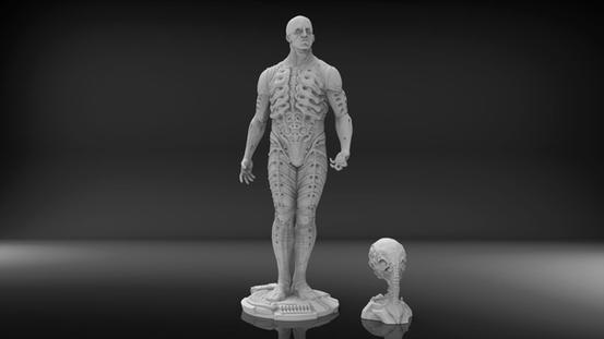1:4 Sammlerfigur 3D Scan