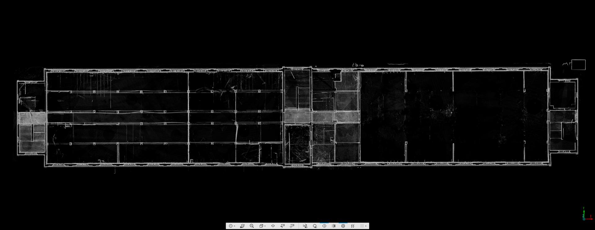 3D Laserscan Industriehalle