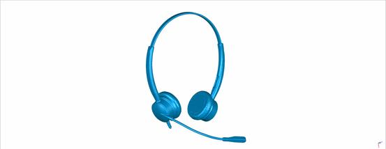 Scan eines Headsets für Produktdesign