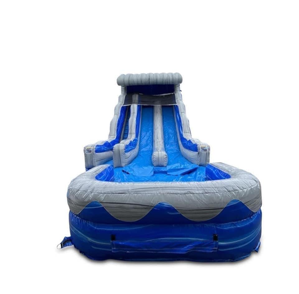 DOUBLE BLUE WAVE WATERSLIDE DEPOSIT