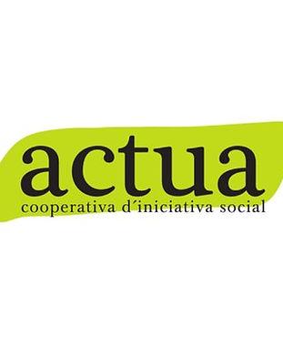 logotip de Actua, cooperativa d'iniciativa social de Vilafranca del Penedès