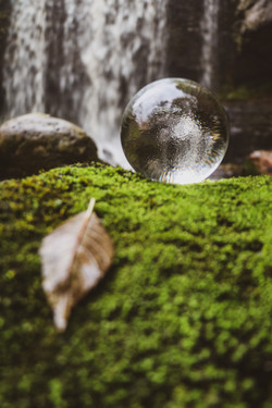 Lensball Waterfall