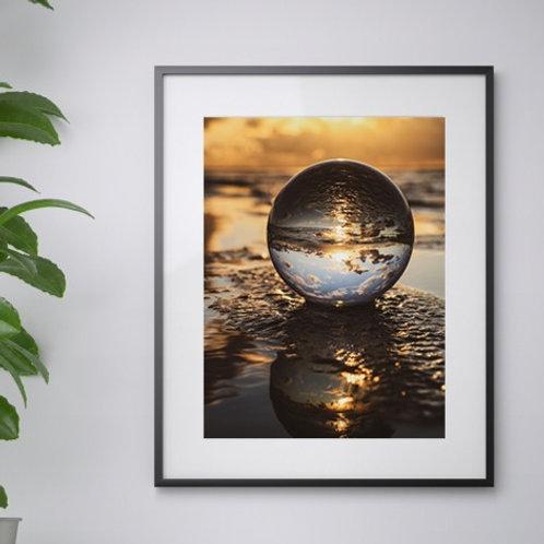 Lensball Sunset print
