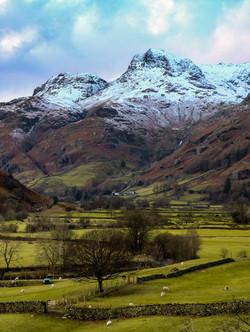 Snowcapped Langdales