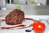 Сочный стейк из говядины от нашего шеф-повара!