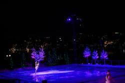 Ice skater in show