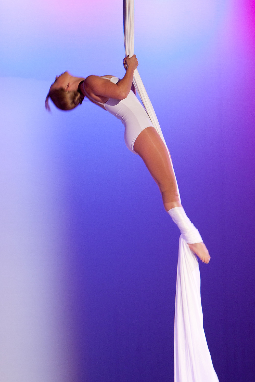 Aerial silks, wedding performer