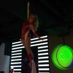 Aerial Cheryl at Club 3NINE