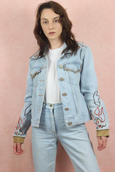 Jaqueta Jeans Folk