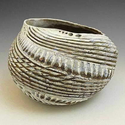 Textured Oblong Vase