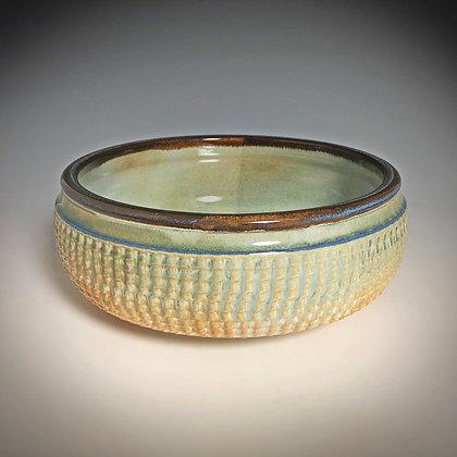 Light Blue Textured Bowl