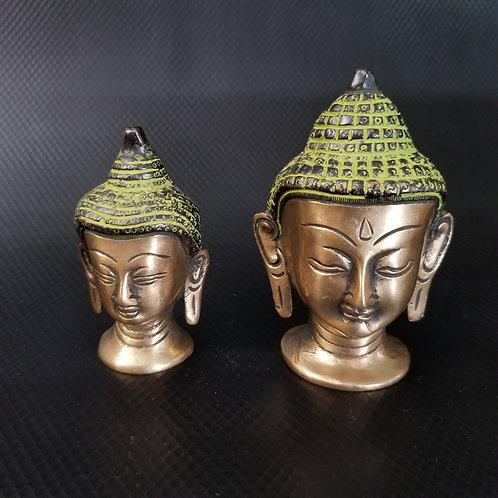 Lord Buddha Head Brass Statue