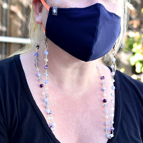 Amethyst & Blue Lace Agate Mask Chain
