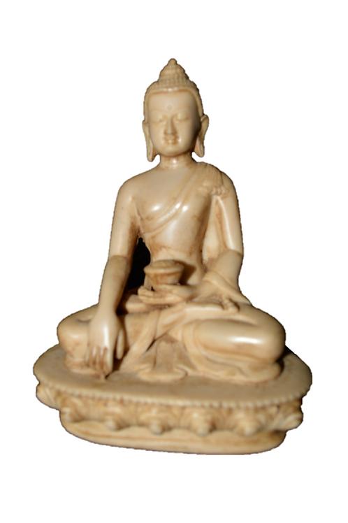 Buddha Statue Meditating on Lotus for Yoga Zen