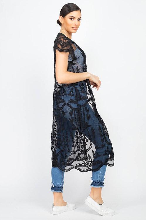 Lovely Longline Lace Cardigan