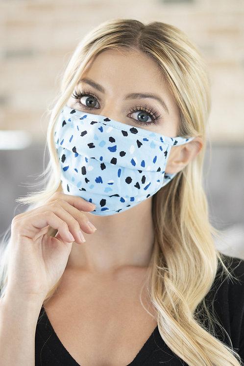 Rfm6006-Rpr035-Blue-Color Spots Print Reusable Face Masks