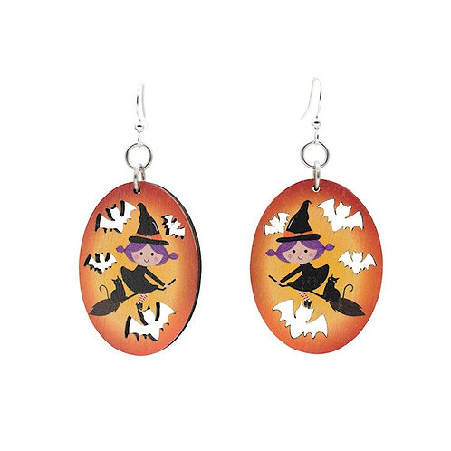 Flying Witch Earrings #1647