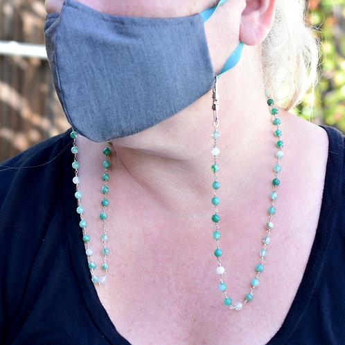 Green Agate Mask Chain