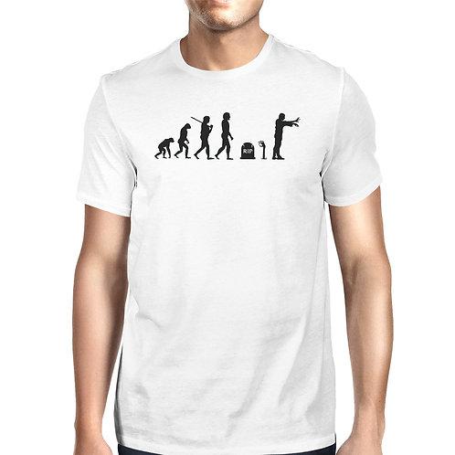 Zombie Evolution Mens White Shirt