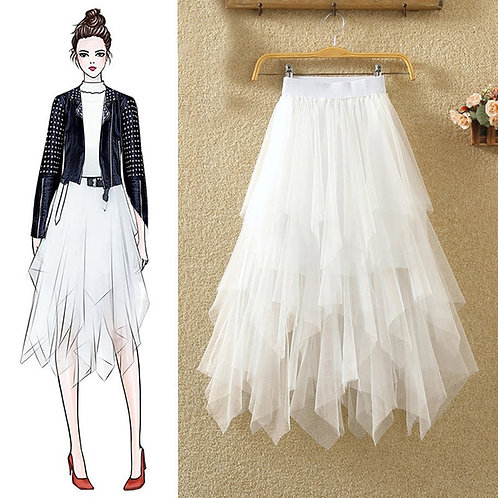 Tulle Skirts Elastic High Waist