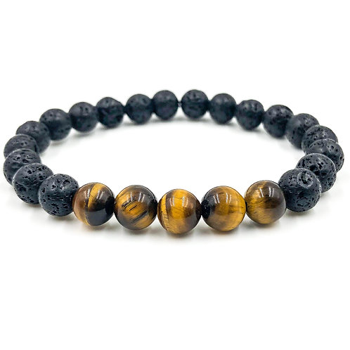 Grove | Tiger Eye & Lava Rock