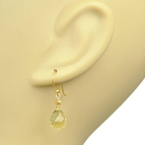 Lemon Citrine Drop Earrings