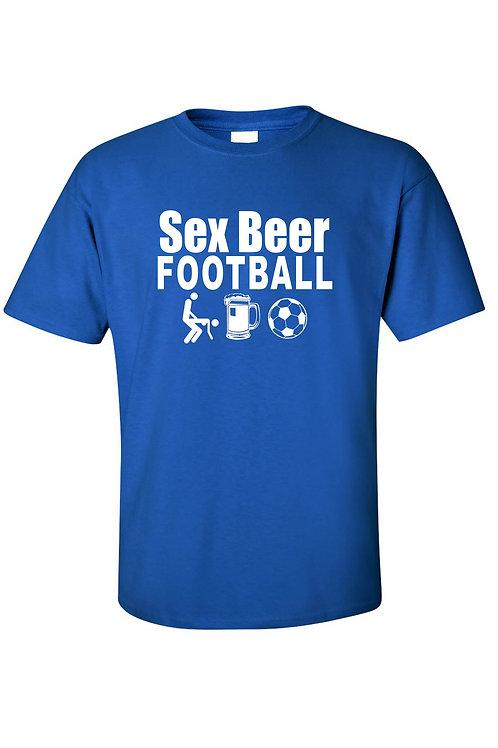 Men's /Unisex Sex Beer Football Short Sleeve T-Shirt