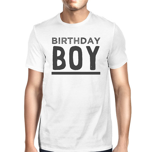 Birthday Boy Mens White Shirt