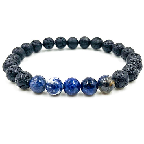 Grove | Blue Sodalite & Lava Rock