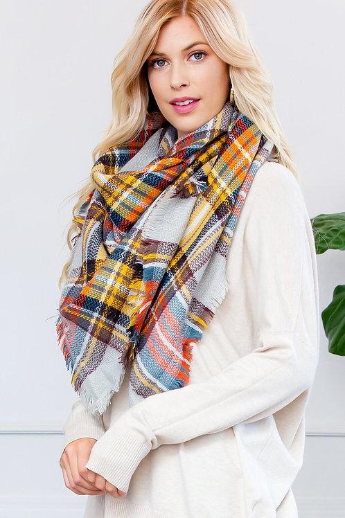 Fringe Blanket Scarf - Style 6