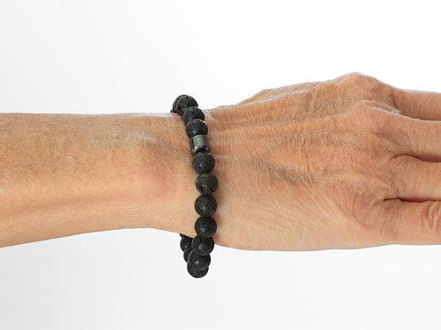 Haima Lava Hematite Bracelet - Black